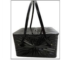 Black 1950s Lucite by VintageDiva60 on Etsy