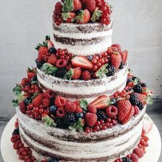 wedding cakes nakedcake Two-Tier Rustic Floral Berry Cake - Cus. wedding cakes nakedcake Two-Tier Rustic Floral Berry Cake – Custom Bakes by Edit Nake Cake, Wedding Cake Rustic, Berry Wedding Cake, Wedding Cakes With Fruit, Rustic Cake, Wedding Cake Two Tier, Rustic Birthday Cake, Red Velvet Wedding Cake, Berry Cake