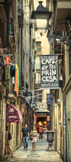 Barcelona's Gothic quarter.