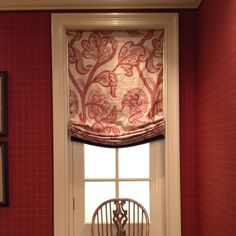 The perfect relaxed Roman shade (maybe this in DR? Custom Blinds, Custom Drapes, Custom Windows, Drapes And Blinds, Cool Curtains, Relaxed Roman Shade, Fabric Roman Shades, Balloon Shades, Custom Window Treatments