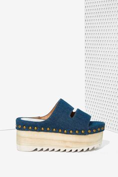 Jeffrey Campbell Ezra Denim Flatform | Shop Shoes at Nasty Gal!