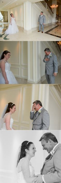 Father of the Bride is absolutely overcome with emotion during his first look!