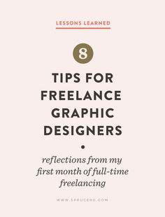 8 Tips for Freelance Graphic Designers | Spruce Rd. #freelanceadvice #freelance…