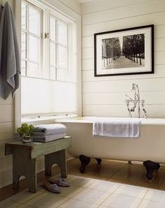 paneling - light, bright, and probably easier to install than wood!