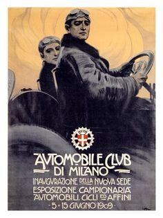 Automobile-club di Milano, Leopoldo Metlicovitz, 1909