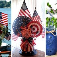 Check out our latest collection of DIY projects featuring 15 Extraordinary DIY of July Centerpiece Designs That Will Stun Your Guests. Fourth Of July, 4th Of July Wreath, Watermelon Centerpiece, Refrigerator Cake, Mason Jar Vases, Recycled Art, Sparklers, Independence Day, Bird Feeders