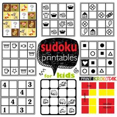 SUDOKU For Kids The goal of the game is to put one of the four pictures  in each column, row or smaller square.