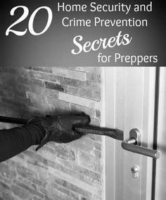 20 Home Security & Crime Prevention Secrets for Preppers 20 Home Security and Crime Prevention Secrets for Preppers – Backdoor Survival