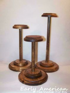 Handcrafted Solid Wood Hat Stands and Bow Tie Displays at The Vintage Hat Box