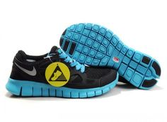 Womens Nike Free Run 2 Black Blue