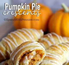 Have you ever seen anything look as delicious as crescent rolls with pumpkin pie filling?Get the rec... - Courtesy of Spend With Pennies