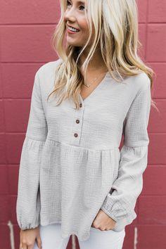 V Neck Spring Button up Blouse | ROOLEE