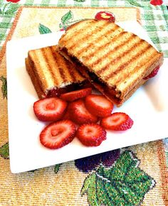 Strawberry and Chocolate Chip Panini recipe. Im thinking for a pudgy pie over the camp fire.