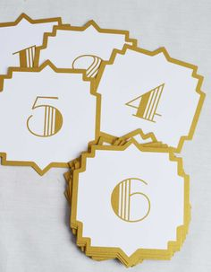 Wedding Table Numbers | DIY Wedding Ideas | Afloral