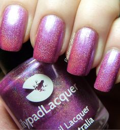 Lilypad Lacquer Blooming Violets clear label, paper bottom label. Some usage. $12 will provide actual bottle shots.