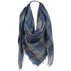 Sylvia Alexander Large Tartan Plaid Scarf ($50) ❤ liked on Polyvore featuring accessories, scarves, tartan plaid scarves, plaid scarves, patterned scarves, tartan shawl and print scarves