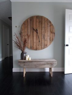 Love this!!! Huge Pallet Clock 46 dia by RustyLantern on Etsy, $175.00