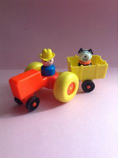 Hey, I found this really awesome Etsy listing at https://www.etsy.com/listing/266121468/fisher-price-vintage-toy-set-vehicle-and