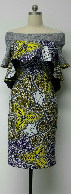 Fitted Knee Length Dress with Hi-Lo Cape. Knit by NanayahStudio Fitted Knee Length Dress with Hi-Lo Cape. Knit by NanayahStudio African Inspired Fashion, African Print Fashion, Africa Fashion, Fashion Prints, Men's Fashion, African Print Dresses, African Fashion Dresses, African Dress, Ghanaian Fashion