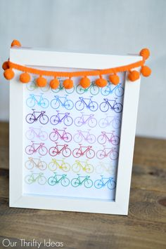 Free Rainbow Bicycle Printable - Our Thrifty Ideas