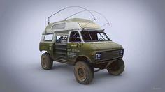 Chevrolet 3100  Directly inspired by Keith Northrop's incredible Trophy Rat https://www.youtube.com/watch?v=6WVWxjCVLz0  Source image: https://cdn-enterprise.discourse.org/boingboing/uploads/default/original/3X/6/1/612be286707abc0e2d8b1ba449c095b0a507b817.jpg