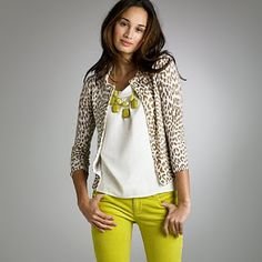 Inspiration for CAbi spring '12 Cropped Bree Jean, Gather Tank, Dotty Cardi I'm gonna wear these yellow jeans smooth out.