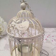 Distressed pavilion birdcage lantern
