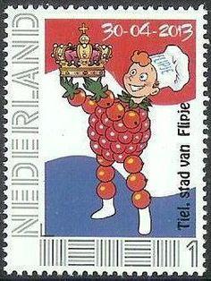 Postzegel Flipje uit Tiel. http://www.voltooidetijd.nl