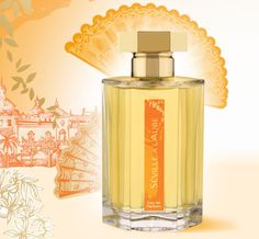 Séville à l'aube appears as two fragrances,  one wearing as a nectar-filled orange blossom, unctuously sweet and then bitter with its tang of green.  The second fragrance is all incense and smoke.There is  a meeting of notes when everything comes together, from the toothsome sweetness of the orange flower to the dusky embers in the base, cut through by aromatic lavender that smells like a distant slow herbal burn.