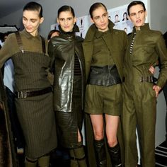 Another high end designer Max Mara dedicates an entire fashion show to army inspired looks