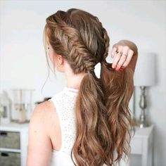 Easy Hairstyles For Long Hair, Braids For Long Hair, Cute Hairstyles, Hairstyle Ideas, Wedding Hairstyles, Summer Braids, Stylish Hairstyles, Blonde Hairstyles, How To Braid Hair