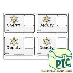 Sheriff's Department Role Play Resources - Primary Treasure Chest Role Play Topics, Sheriff Department, People Who Help Us, No Image, Community Helpers, Teaching Activities, Dramatic Play, Id Badge, Treasure Chest