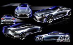 Photos: Lexus LF-LC Concept - Sketches  - RoadandTrack.com
