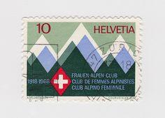 Swiss stamp.