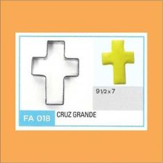 Categoría: Cortantes Metalicos Galletas - Producto: Cortante Metal Cruz Grande - Fa018 - Envase: Unidad - Presentación: X Unid. - Marca: Flogus