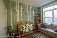 Ashbee Design- Grandchild's Birch Tree Nursery using wall decals