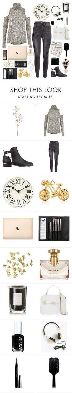 """21 days till Christmas!"" by genesis129 ❤ liked on Polyvore featuring OKA, River Island, H&M, Jet Set Candy, Sephora Collection, Bulgari, Coqui Coqui, Versace, Essie and J.Crew"