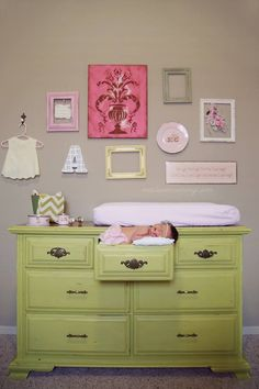 baby girl gallery wall - Google Search