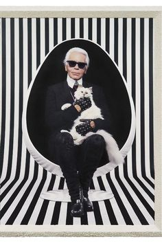 Paris Exhibits Spotlight Fashion Folk For your eyes only, (Karl Lagerfeld), 2013 [Photo Courtesy of Pierre et Gilles and Galerie Daniel Templon, Paris] Karl Lagerfeld Choupette, The Animals, Pierre Balmain, Thema Paris, Mode Origami, Jean Patou, Elle Mexico, Moda Outfits, Anna Wintour