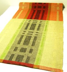 Handwoven linen- table runner.
