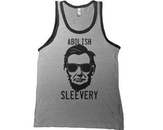 Abolish Sleevery Mens Tank Top - man muscle t shirt abe lincoln workout beer funny  tshirt college bar tee on Etsy, $14.95