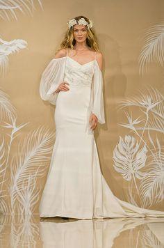 Sleeved Wedding Dress, Long, Short, Cap, Designer Gowns || Colin Cowie Weddings 2017 Bridal, Designer Gowns, Wonderful Things, Dress Long, Shoulder Dress, Cap, Weddings, Wedding Dresses, Fashion
