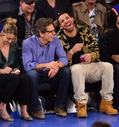 Drake laughing with Ben Stiller is incredibly random and sweet.