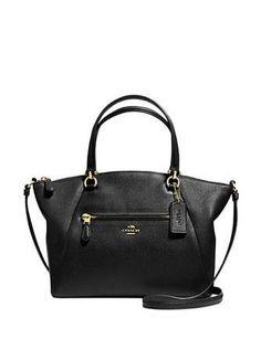Coach Prairie Satchel in Pebble Leather - Black/Light Gold bags purses handbags Fall Handbags, Cheap Handbags, Handbags Michael Kors, Coach Handbags, Coach Purses, Luxury Handbags, Fashion Handbags, Purses And Handbags, Coach Bags