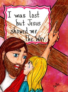 """Jesus said, """"I AM the Way, the Truth, and the Life, no man comes to the Father except through Me.""""  (John 14:6) www.facebook.com/TheGoodNewsCartoon"""