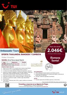 ¡Semana Santa! Bangkok y Camboya desde Madrid 9 días/6 noches. Precio final desde 2.046€ ultimo minuto - http://zocotours.com/semana-santa-bangkok-y-camboya-desde-madrid-9-dias6-noches-precio-final-desde-2-046e-ultimo-minuto/