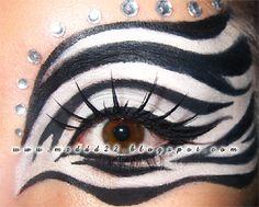 Makeup Is My Art: Zebra Mask Makeup!