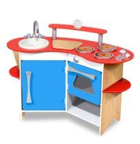 Buy Melissa & Doug Cook's Corner Wooden Kitchen from BrightMinds. Leading UK Online Educational Kids Gifts and Childrens Toy Shop for Melissa & Doug Cook's Corner Wooden Kitchen Best Play Kitchen, Play Kitchen Sets, Toy Kitchen, Play Kitchens, Pretend Kitchen, Mini Kitchen, Kitchen Ideas, Kitchen Board, Compact Kitchen