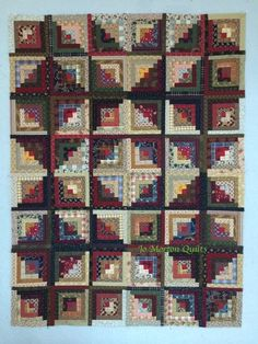 Jo Morton's Log Cabin ~ Love this lay out!