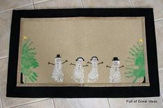 I would love to do this with the boys & frame it:) What a Christmas decoration that would be!